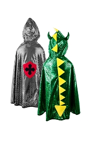 Reversible Dragon and Knight Cape