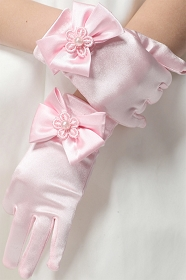 Short Pink Princess Gloves