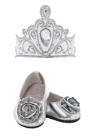 Silver Tiara and Shoes for DOLLS!!!
