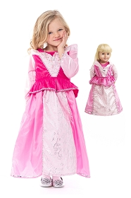 Sleeping Beauty Child and Doll Dress Set