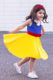 Twirly Girl Snow White Dress