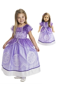 Purple Amulet Princess Child and Doll Dress Set