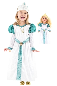 DELUXE Swan Princess Odette Child and Doll Dress Set