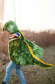 Green T-Rex Cape with Hood