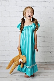 Teal Vintage Nightgown