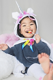 Toddler Unicorn Cape with Hood