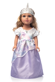 Unicorn Princess Doll Dress and Tiara
