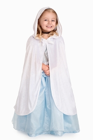 White Princess Cloak with Hood