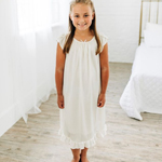 DISCONTINUED WHITE Silky Nightgown
