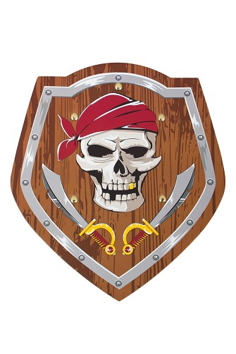 Gold-Toothed Pirate Foam Shield