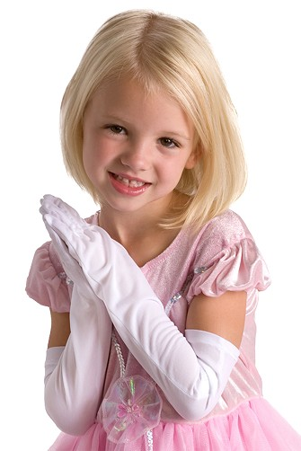 Long White Princess Gloves