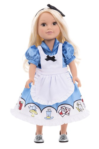 Alice in Wonderland Dress with Headband for Dolls