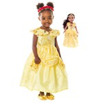 Yellow Beauty Child and Doll Dress Set - Cap Sleeves Style