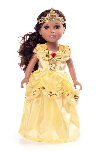 Yellow Beauty Doll Dress - Cap Sleeves Style