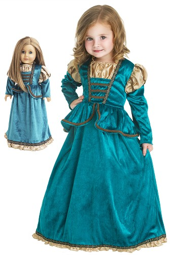 Scottish Princess Child and Doll Dress Set