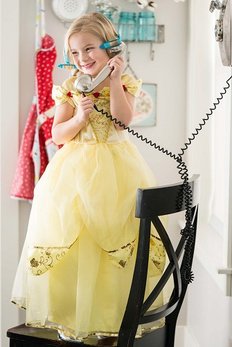 DELUXE Yellow Beauty Princess Dress