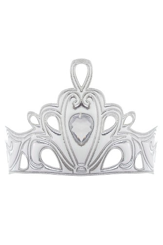 Silver Jewel Teardrop Soft Tiara