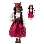 Pirate Girl Anne Child and Doll Costume Set