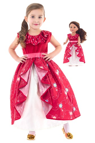 Latina Princess Child and Doll Dress Set