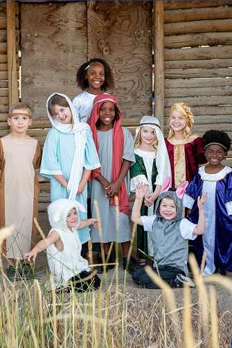 Complete Nativity Dress Up 9 Piece Costume Set