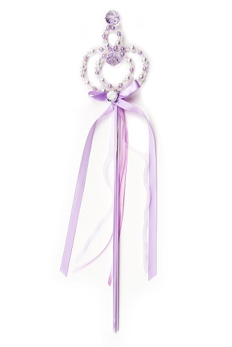 Purple Jewel and Pearl Wand