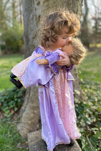 Rapunzel Child and Doll Dress Set <BR>- Long Sleeve Style