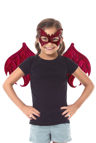 Red Dragon Wings and Mask