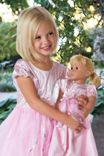 Royal Pink Ballgown Child and Doll Dress Set