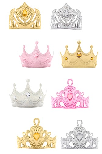 Soft Tiara Party Pack of 8