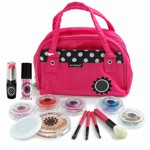 14 Piece Real Feel Play Makeup Set with Pink Purse