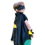 Batman Cape with Mask and Wristcuffs