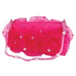Dark Pink Rose Puff Purse