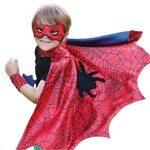 Spiderman Cape with Mask and Wristcuffs