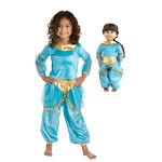 Arabian Princess Jasmine Replica Child and Doll Costume Set