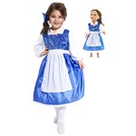 Beauty's Blue Provincial Dresses for Child and Doll