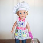 Doll Apron with Chef Hat