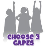Create Your Own 3 Cape Set with Matching Masks