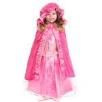 Deluxe Pink Princess Cloak with Hood