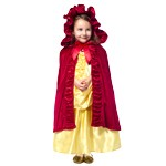 Deluxe Red Princess Cloak with Hood