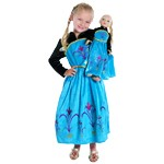 Ice Queen Coronation Child and Doll Dress Set