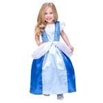 SATIN Cinderella Dress Up Costume with FREE Accessories- Extra Large