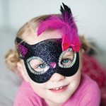 Black Kitty Sparkle Mask
