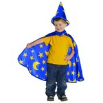 Sorcerer's Cape and Tall Wizard Hat