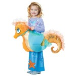 Mermaid Dress with Ride-On Seahorse