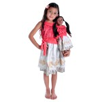 Polynesian Princess Child and Doll Dress Set