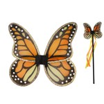 Monarch Butterfly Wand and Wings Set