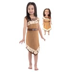 Pocahontas Child and Doll Dress Set