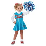 One Piece Cheerleader Costume with Sleeves