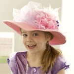 Purple Tulle Tea Party Hat