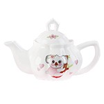Child's Porcelain Koala Tea Set with Basket